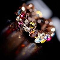 lady schöne schmuck süß farbige runde blume kristall - ring elegante