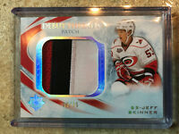 10-11 UD Ultimate Debut Threads Patch #DT-JS JEFF SKINNER Rookie RC /35