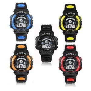 Unisex Sports Children Girls Boys Kids Digital Led Watch Quartz Gift Present UK
