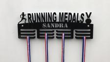 FEMALE RUNNING Personalised 3Tier Medal Hanger, Holder, Strong 5mm Acrylic