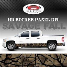 "Savage Fall Camo Rocker Panel Graphic Decal Wrap Truck SUV - 12"" x 24FT"