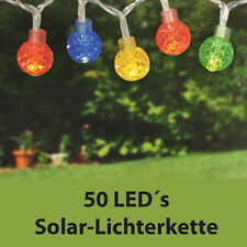 LAMPION LED Solarlichterkette mit 50 LED´s - Outdoor - 5m lang - Lampions