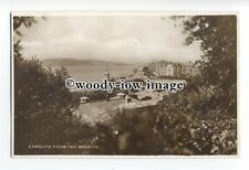 tq1874 - Devon - View of Exmouth Town & Bay c1930s, from the Beacon - postcard