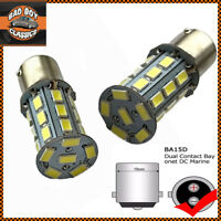 x2 12V 1157 BA15D Vintage Classic Car Bulbs Dual Brightness Negative Earth