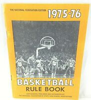 The National Federation Edition 1975-76 Basketball Rule Book