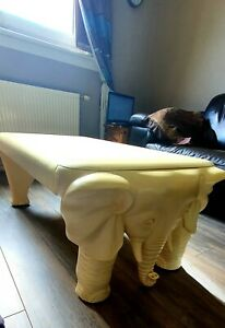 Rare lovely vintage elephant coffee table