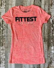 Reebok 2013 CrossFit Games  Fittest On Earth Women's Neon Pink Burnout T-Shirt L