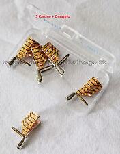 5 CARTINE ORO TEFLON NAIL ART allungamento ricostruzione unghie GEL nail art