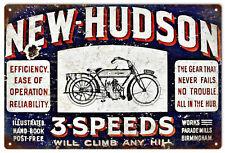 New Hudson 3 Speed Motor Bike Advertisement Sign