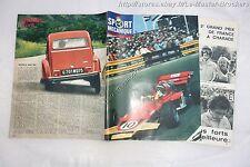 SPORT MECANIQUE 1970 Essai CITROEN 2CV6 &  Formule 1 GP France à Charade