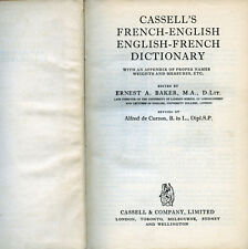 """ CASSELL'S- FRENCH - ENGLISH - ENGLISH - FRENCH -DICTIONARY "" 24° Edizione 1953"