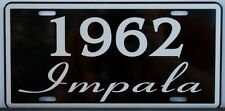 1962 62 IMPALA LICENSE PLATE 327 409 CONVERTIBLE CHEVY CHEVROLET SS SUPER SPORT