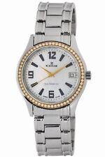 Edox Women's 70072 318TD A Les Genevez Rose Gold DIAMOND Date Watch