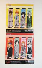 Bleach Segnalibro/Bookmark Ichigo Rukia Renji Inue Chad Uryu Urahara Byakuya