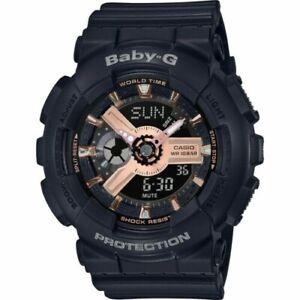 Casio Baby-G Rose Gold Black Metallic Analogue/Digital Watch BA110RG-1A BA-110RG