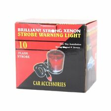 Briliant Strong Xenon Flash Strobe Emergency Warning Light, DC 12V Car Van Truck