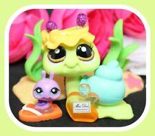 ❤️Authentic Littlest Pet Shop LPS #2218 Sparkle Glitter Snail & TEENIEST BABY❤️