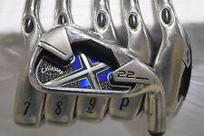 "Used RH Callaway X-22 6-AW Iron Set DG Steel Shaft Extra Stiff Flex X X22  -1/2"""