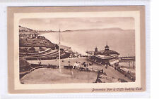 Postcard  Boscombe  Pier & Cliffs Looking East Postmark:1911 To  Miss E Lowe