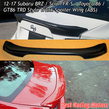 T Style Rear Trunk Spoiler Wing (ABS) Fits 12-17 Scion FR-S / Toyota 86 / BRZ