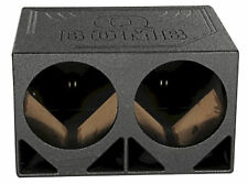 """Rockville RQ12TB Dual 12"""" Triangle Ported Subwoofer Sub Box Bed Lined Enclosure"""