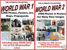 2 Mega DVDS WW 1 & 2 Photos Art Map 9000 Rare Images History Politics Great Wars