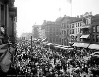 "1900 Main St, Buffalo, NY Labor Day Crowd Vintage Photograph 8.5"" x 11"" Reprint"