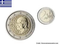 2 Euros Commémorative Grèce 2016 Dimitri Mitropoulos UNC