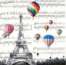 Eiffel Tower Paris w Fire Balloons Canvas Print Art Painting Wall Home Decor