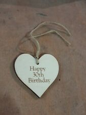 Handmade Wooden Gift Tags - 30th Birthday