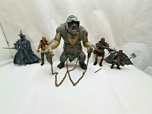 Lord of the Rings Troll Witch King Uruk Hai Job lot action Figures,Toybiz