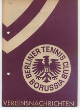 Tennis Borussia Berlin - Vereinsnachrichten - Februar 1960