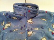 Girls 6 6X Columbia SnowMan Winter Fleece jacket zip up sweatshirt blue BTS