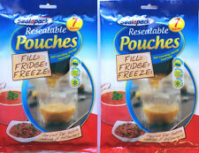 14 Sealapack Resealable Pouches Self-standing Fridge Freezer Storage Food Bags