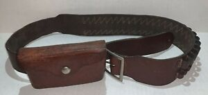 Vintage Hunter Co. Leather 206 XLG Ammo Cartridge Belt & 27-200 Ammo Pouch