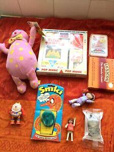 Collection Bundle Of 9 Vintage 80s 90s Toys,Sinki,Mr Blobby,ACE Trump Game& more