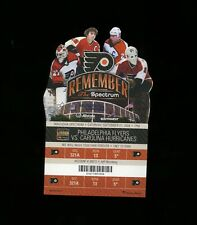 9-27-2008 Carolina Hurricanes @ Philadelphia Flyers Ticket - Spectrum Last Game