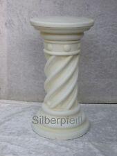 Antik Säule Blumensäule Tisch Design Barock Säulen Stuckgips  Deko 1014 Crem