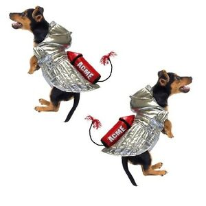 High Quality DOG Costume - ACME ROCKET SILVER SPACE DOG COSTUMES - Roadrunner