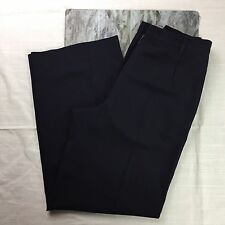 Jil Sander Linda Dresner Women's Navy Blue 100% Wool Pleat Front Dress Pants 40