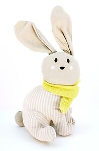 Elements Rabbit Door Stopper Grey Decorative Design Cute Striped Animal Bunny