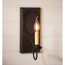 Country new black wilcrest wood wall sconce light / nice