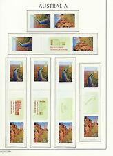 AUSTRALIA 2010 - SNP Sprint Roll  - WORLD HERITAGE SITES  + labels - Mint MNH