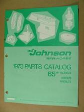 1973 JOHNSON 65 HP MODELS 65ES73 & 65ESL73 OUTBOARD MOTOR PARTS CATALOG 386137