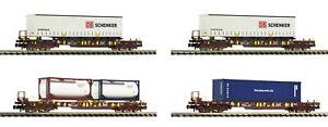 """Fleischmann N 931891-2 Taschenwagen-Set """"T3"""" der AAE - NEU"""