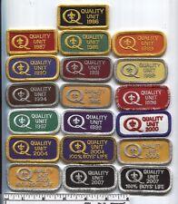 BSA  Quality Unit Patch Lot - 19 Different