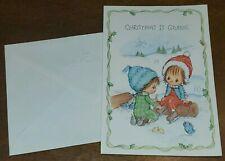 "Vintage Hallmark & Betsey Clark Christmas Card w/envelope, ""Christmas is giving"""