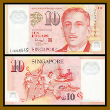 Singapore 10 Dollars, 2016 P-48i One Solid House Polymer Unc