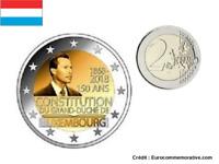 2 Euros Commémorative Luxembourg 2018 Constitution UNC