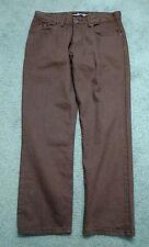 Lee Reg Fit mens straight leg brown waist 34 L 29 cotton denim jeans